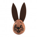 wholesale Toiletries: Cotton head: rabbit with ears, 23x29 mm, 2 pieces