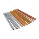 Glitter glue sticks for hot glue gun, colored,