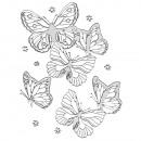 Klebemotiv 3D: Schmetterlinge, silber, 1 Bogen