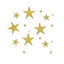 Großhandel Geschenkartikel & Papeterie: Klebemotiv: Sterne, gold, 1 Bogen
