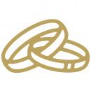 Motyw klejowy: obrączki ślubne, złote,