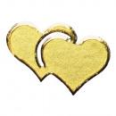 Klebemotiv: Herzen, gold, 1 Bogen