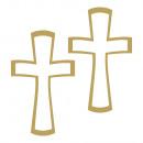 groothandel Stationery & Gifts: Lijmmotief: kruis, goud, 1 vel