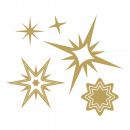 wholesale Other: Glue motif: stars, gold, 1 sheet