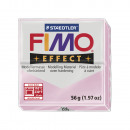 Fimo effect modeling clay gemstone, rose quartz,