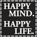 Label Happy Mind. Happy Life, 1 piece