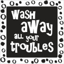 Label wash away all your troubles, 1 piece
