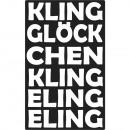 Címke Kling csengő Klingelingeling, 1 darab