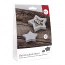 Bastelpackung: csillag betontálca + Dekostern, 1 S