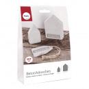 Bastelpackung: betonnen huis (2x klein / 1x groot)