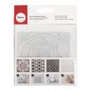Plaque de coulée en relief Mandala, 1 pièce