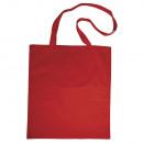 Katoenen zak m. lange hengsels, klassiek rood,