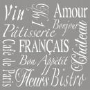 Schablone French Living, 1 Stück