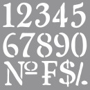 Schablone Nummern, 1 Stück
