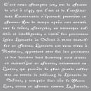 Pochoir français Écriture, 1 pièce