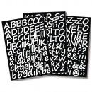 Klebebuchstaben Schreibschrift, 3 Blatt