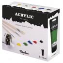 Set acrylique 6 x 75 ml, 450 ml