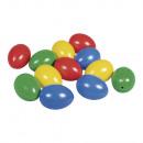 Plastic eggs, 6 cm, mixed, 10 pieces