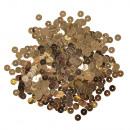 Paillettes, lisce, 6mm ø, oro, 4000 pezzi