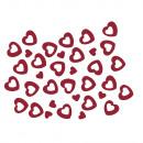 Cekinowe serce, 6 mm + 13 mm, 2 odmiany, czerwone,