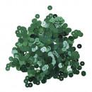 Cekiny, gładkie, ø 6mm, niebiesko-zielone, 6g