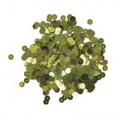 Paillettes, lisce, 6mm ø, oliva, 6 g