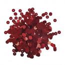 Paillettes, lisce, 6mm ø, rosso, 6 g