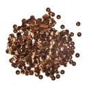 Paillettes, convesse, 6mm ø, marrone scuro, 6 g