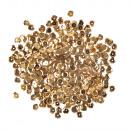 Flitterek, domború, 6 mm ø, arany, 6 g