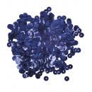 Paillettes, bombate, 6mm ø, blu scuro, 6 g