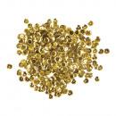 Flitterek, domború, 6 mm ø, sárga arany, 6 g