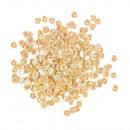 Flitterek, domború, 6 mm ø, irizáló sárga, 6