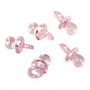 wholesale Baby Toys: Plastic pacifier, baby pink, 10 pieces