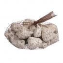 Deco lava stone, white colored, white, 250 g