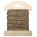 Jute cord on wooden card, 1, 5mm ø, sand,