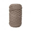 Braidy recycling yarn, braided, 4mm ø, taupe