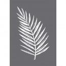 Siebdruck-Schablone Palmenblatt,