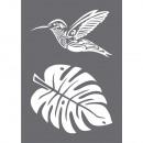 Stencil Hummingbird, 1 stuk