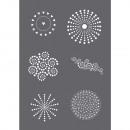Zeefdruk stencil Dots A5,