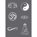 Screen printing stencil symbols A5,