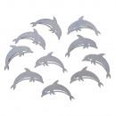 Delfini da spalmare in legno, 10 pezzi