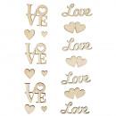 Lettres en bois Amour,