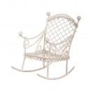 Fotel bujany, biały, 1 szt