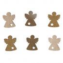 Holz-Streuteile Engel, 2cm ø, 24 Stück