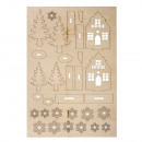 Wooden kit winter houses, 1 piece