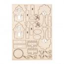 Wooden kit garden houses, 1 piece
