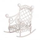 wholesale Garden Furniture: Rocking chair, white, 1 piece