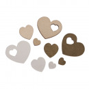 Wooden scattering hearts, FSC 100%, 33 pieces