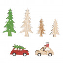 wholesale Decoration: Wooden Christmas tree is coming, 6 pieces