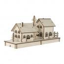 Wooden kit house x2, FSC 100%, 1 set